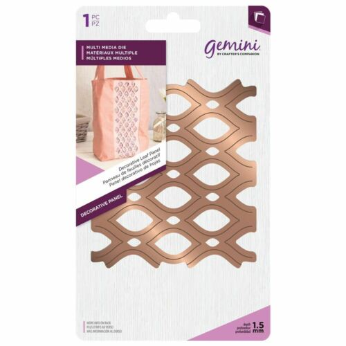 Decorative Leaf Panel Fabric Die Shape Sets Gemini Multi Media Metal Card