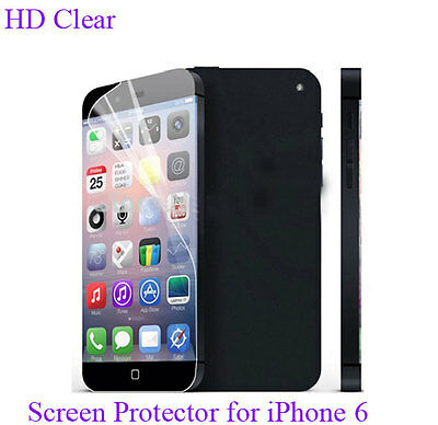 "For iPhone 6 4.7"" inch transparent back cover Case+screen protector"