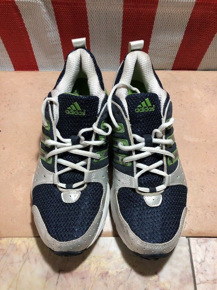 Vintage 2008 Navy Adidas Cushion Shoe White/Green/ Navy 2008 Mens Size 8.5 US b088ee