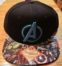 Avengers Age of Ultron Iron Man Hulk Thor Captain America Snapback Hat - On-Brim