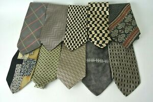 Men-039-s-Assorted-Multi-Color-Brown-Dress-Neck-Ties-Lot-of-10-Designer-Brands-1008