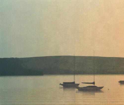 """Russell Chatham Original Signed /""""Still Evening at Tomales Bay/"""" Lithograph"""