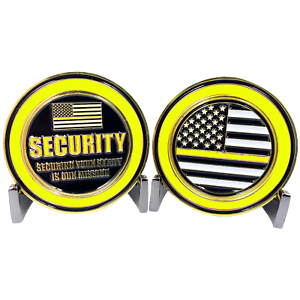 """SECURITY OFFICER SECURING YOUR SAFETY IS OUR MISSION 1.75/"""" CHALLENGE COIN"""