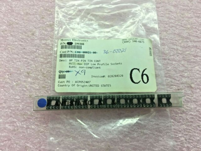 24POS MILL MAX 110-43-324-41-001000 DIP SOCKET THROUGH HOLE 5 pieces