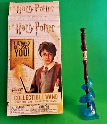 """Jakks Harry Potter Collectible Wand 4/"""" Die-Cast Wand w// Stand ***Lot of 3***"""