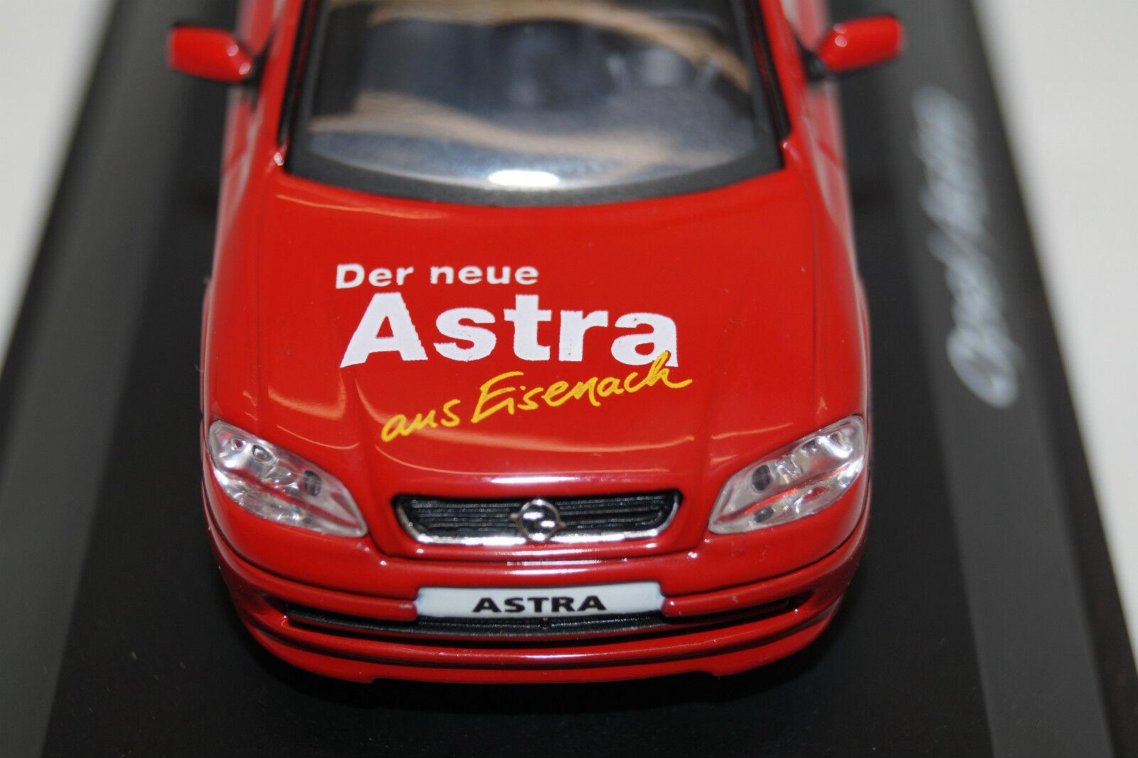 Schuco opel astra g sondermodell der neue astra aus eisenach 1   43.