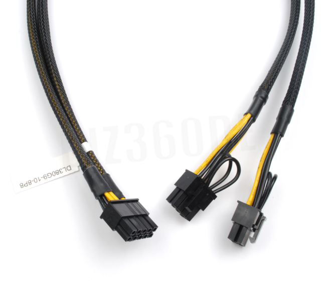 50cm 10pin to 6+8pin Power Adapter Cable for HP Proliant ML350 G9 and GPU
