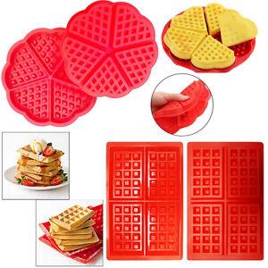Silicone Waffles Mold Pan Food  DIY Oven Baking Pan Mold Tray Waffler Maker Tool