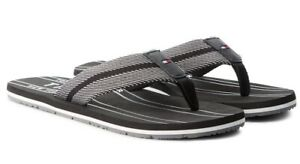 Tommy-hilfiger-Shoes-Men-039-s-Flip-Flops-Leather-Fabric-Sandals-Slippers-Clogs-Sea
