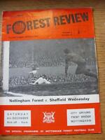 06/12/1969 Nottingham Forest v Sheffield Wednesday  (minor creasing).  Any fault