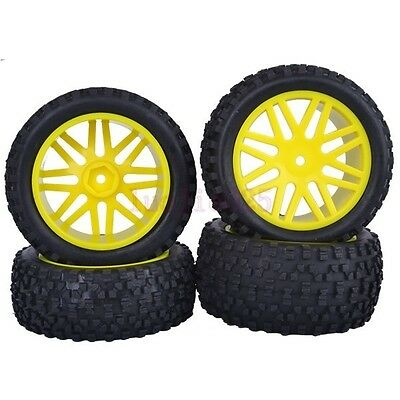 SET RC 1:10 Off-Road Buggy Front & Rear Rubber Tyre Tires &Wheel Rim 66013-66033