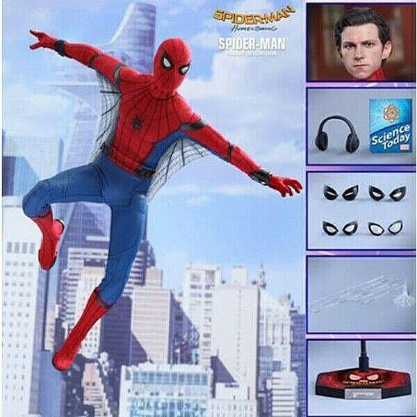 HC Hot Juguetes compatible Marvel Vengadores Spiderman 30cm BJD articulaciones movibles Acción