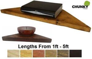 Awesome Details About Corner Shelf Large Wooden Floating Shelves Rustic Reclaimed Shelf Interior Design Ideas Jittwwsoteloinfo