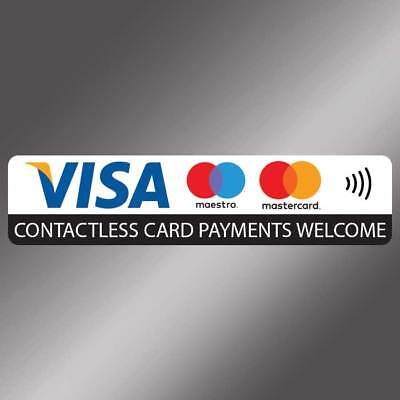 Visa and Mastercard contactless payment card accepted here sticker