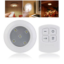 Wireless Kitchen Counter LED Under Cabinet Closets Lighting Puck Light Cool WHT