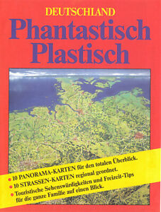 Mappe mit 10 Panoramakarten und 10 Straßenkarten von Deutschland, 1990