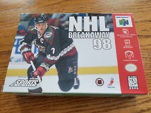 NHL-Breakaway-98-Game-and-Box-Only-Nintendo-64-1998