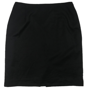 FLETCHER-JONES-WOMAN-100-Pure-Wool-Lined-Skirt-Plus-Size-Black-Size-18