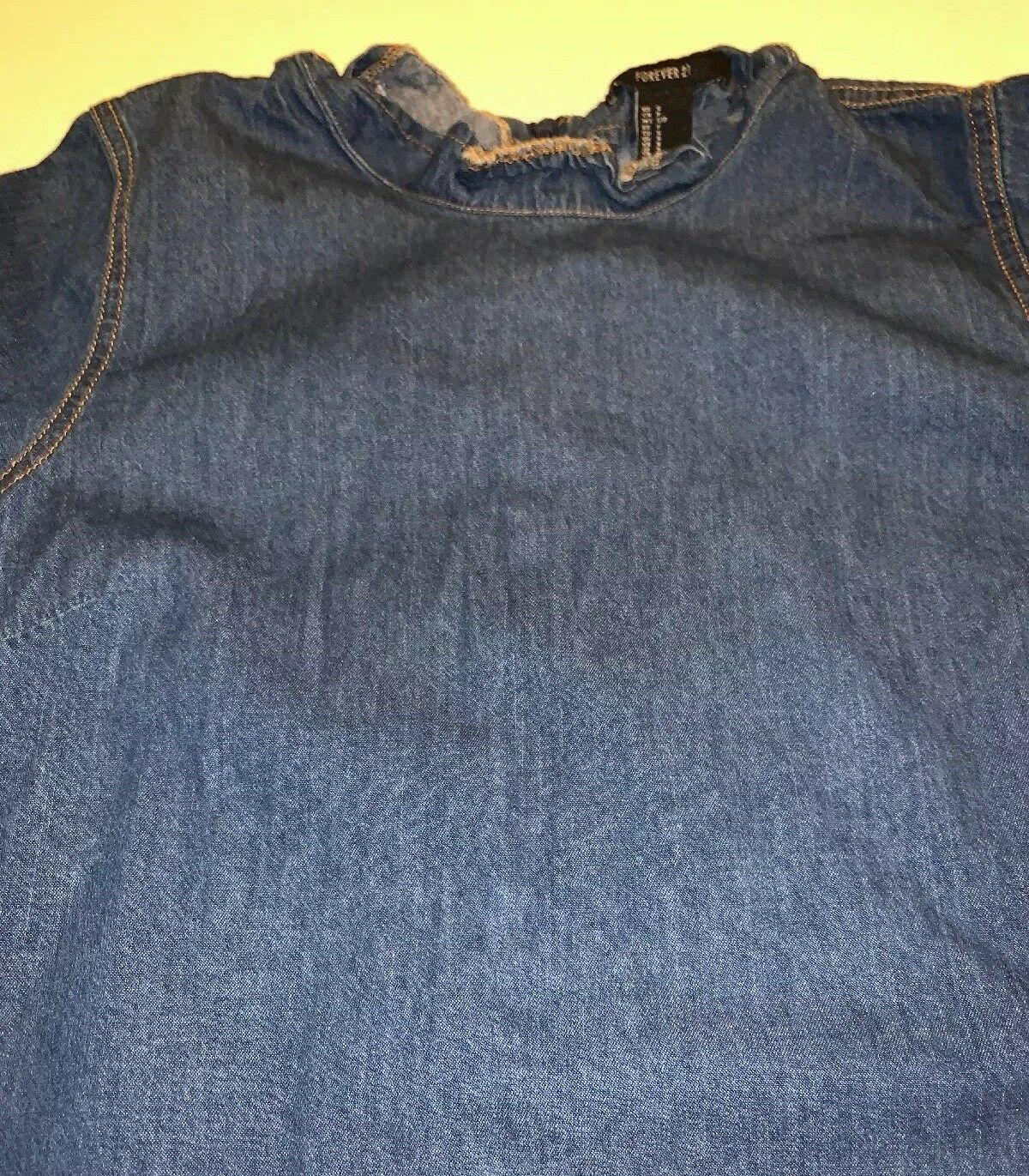 Preowned- Forever21 Dark Wash Chambray Denim Dres… - image 2