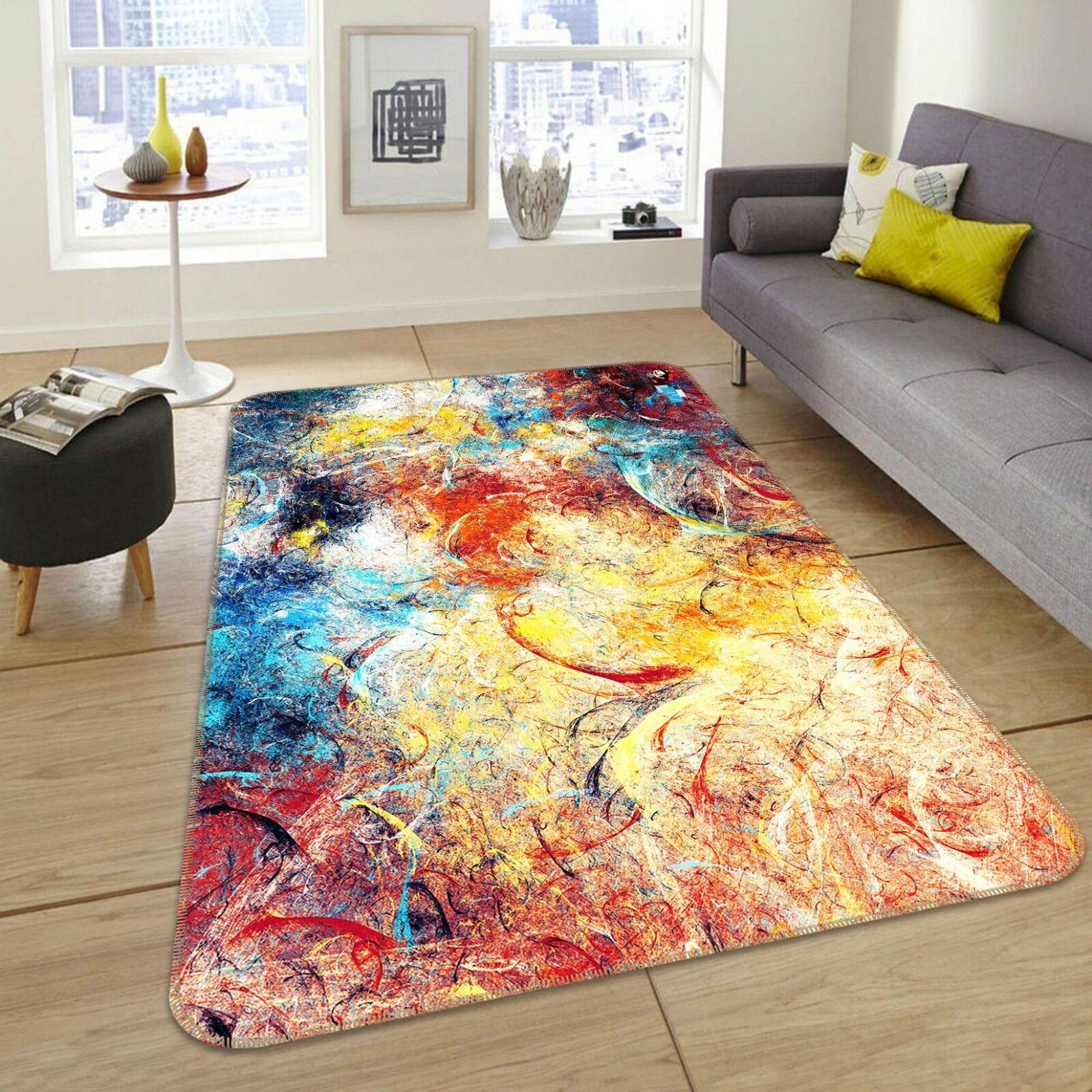 3D Oil Paint Graffiti 1 Non Slip Rug Mat Room Mat Quality Elegant Photo Carpet