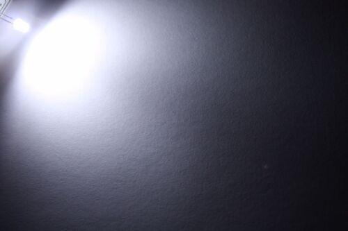 10x 5mm LED Flattop cablato 15cm diodo Resistore 5mm
