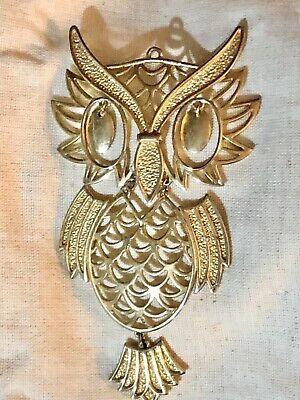 Retro Owl Cluster Dangle Gold Tone Necklace*