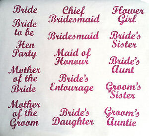 wedding-bridesmaid-transfer-iron-on-t-shirt-hen-party-fuschia-pink-glitter-patch