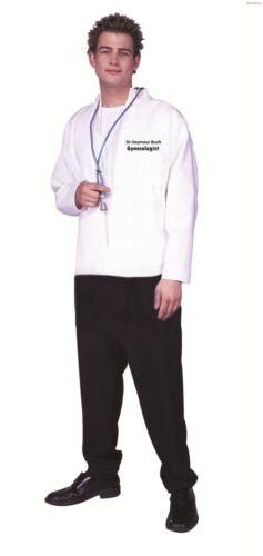 Blanc Homme Médecins gynécologues Veste Chemise Dr Seymour Bush Fancy Dress