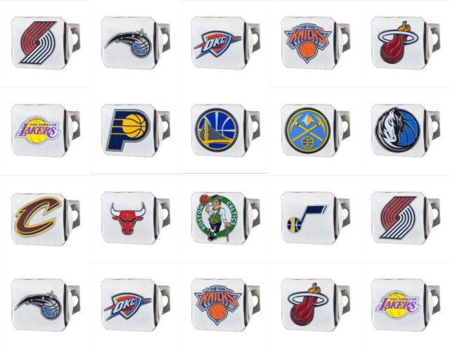 NBA Truck Chrome 3-D Color Hitch Covers HD Metal - Choose Team