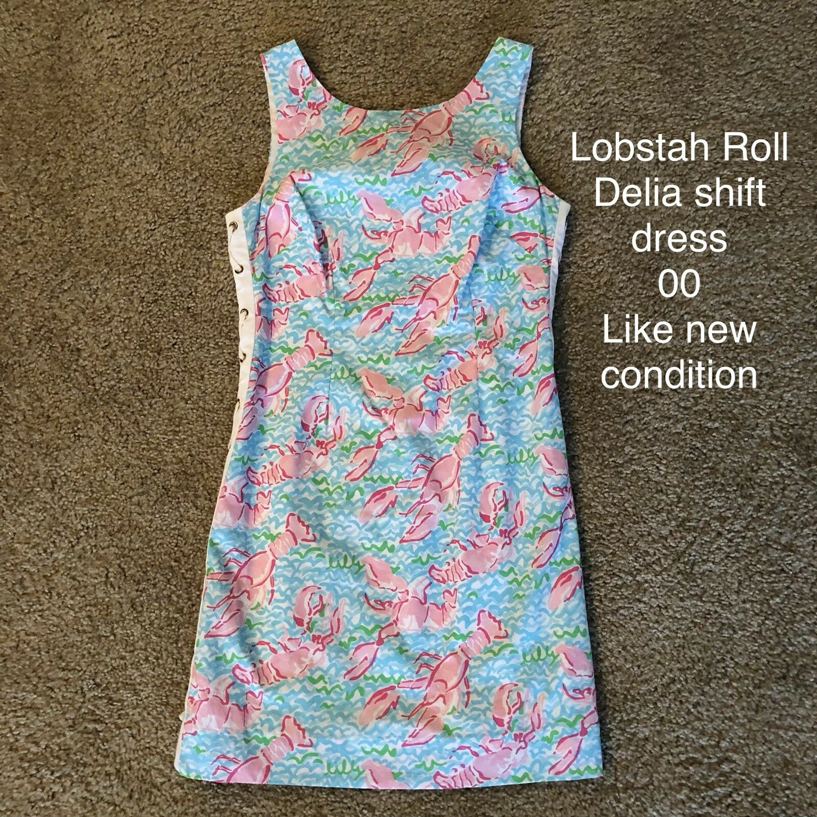 Lilly Pulitzer Lobstah Roll Shift Dress 00