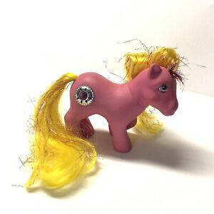 Vintage-1987-My-Little-Pony-G1-Princess-SUNBEAM-Pink-Yellow-Hair-MLP