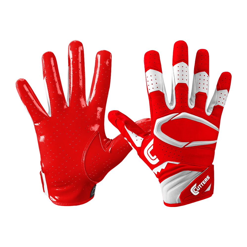 Cutters s451 Rev Pro 2.0 Football Receiver Gloves XL ADULT XL Gloves rosso/bianca 89613e