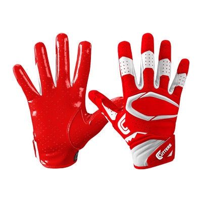 CUTTERS REV 2.0 Football Wide Receiver Red Gloves Adult Large *NEW* C-TACK Grip