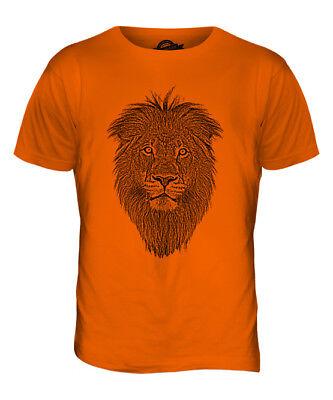 Velocitee Mens Long Sleeve T-Shirt Big Cat Lion Face V170