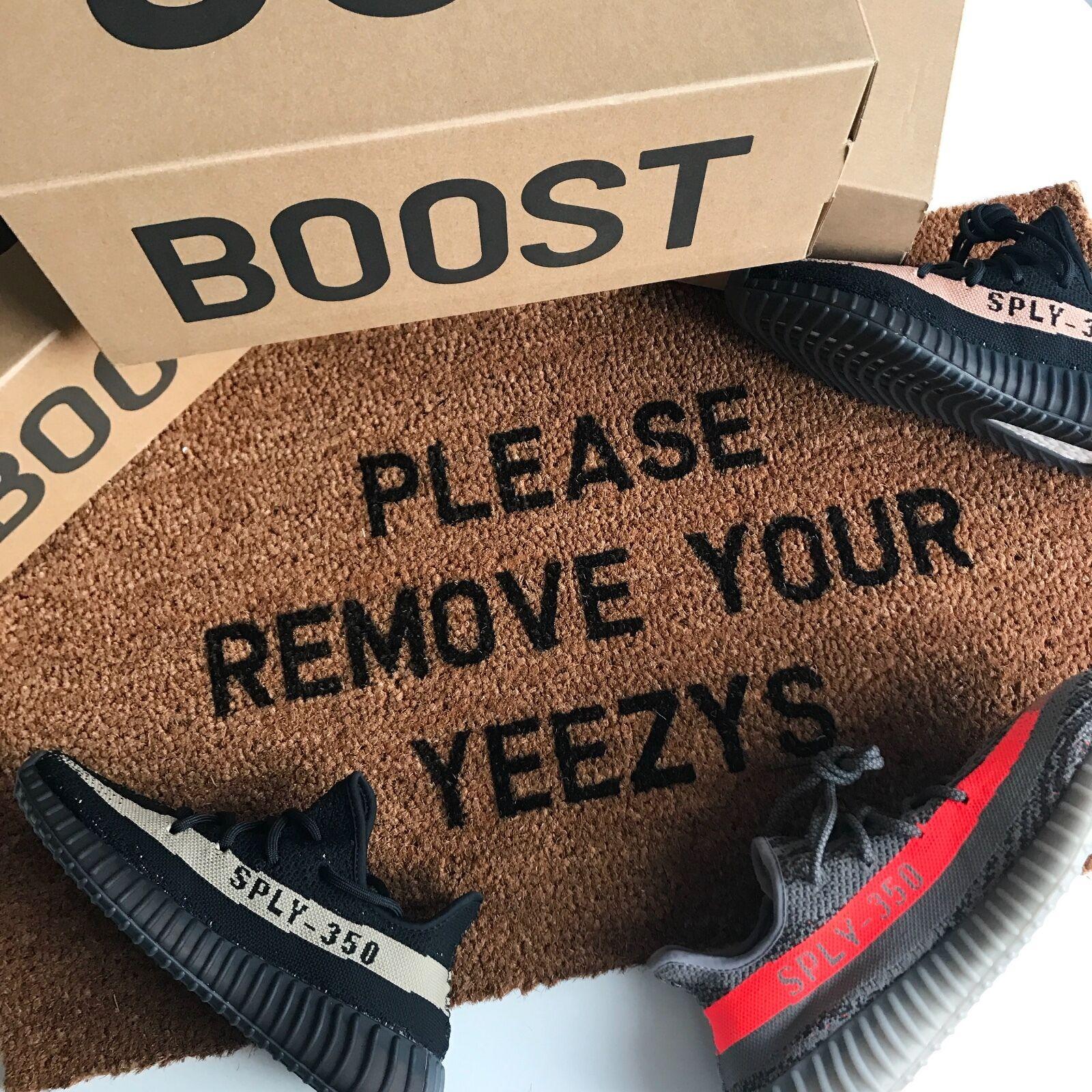Please Please Please Remove Your Yeezys Doormat Stenciled Coir 70 x 40 Internal Door mat braun d480c2