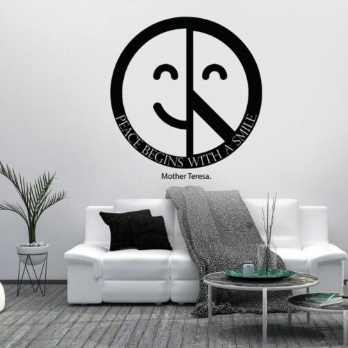 Mother Teresa Peace Motivation Quotes Vinyl Wall Art Stickers Home Room Decals