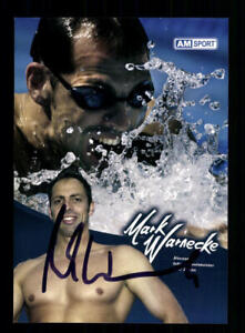 Mark Warnecke Autogrammkarte Original Signiert Schwimmen + A 212192