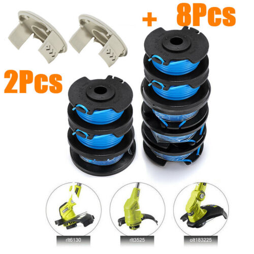 AC14RL3A Strimmer Trimmer 8pcs Spool And Line Covers For Ryobi One