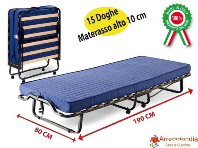 Letto Pieghevole 80.Lettino Pieghevole Con Materasso Waterfoam Blu 80 X 190 X 34 Cm