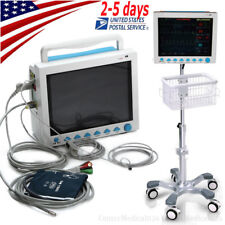 7 Parameters Patient Monitor Vital Signs Monitor With Standbrackettrolly Cart