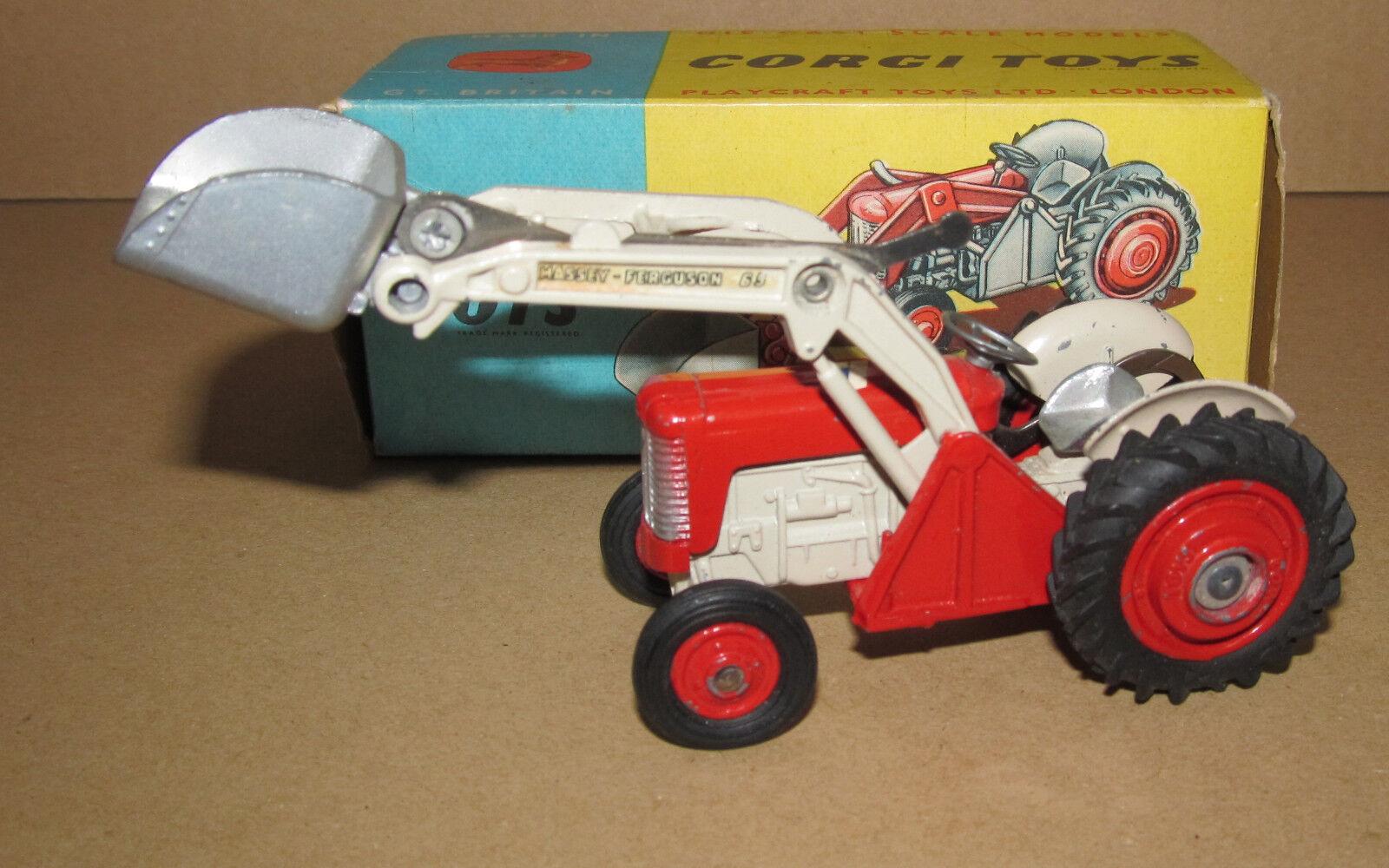 + B CORGI TOYS 53 Massey Ferguson 65 Tracteur  avec pelle  liquidation de la boutique