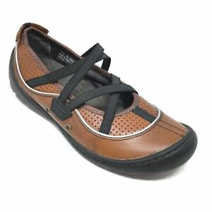 Women-039-s-Privo-by-Clarks-Mary-Jane-Loafers-Shoes-Size-6M-Brown-Leather-Casual-AH3