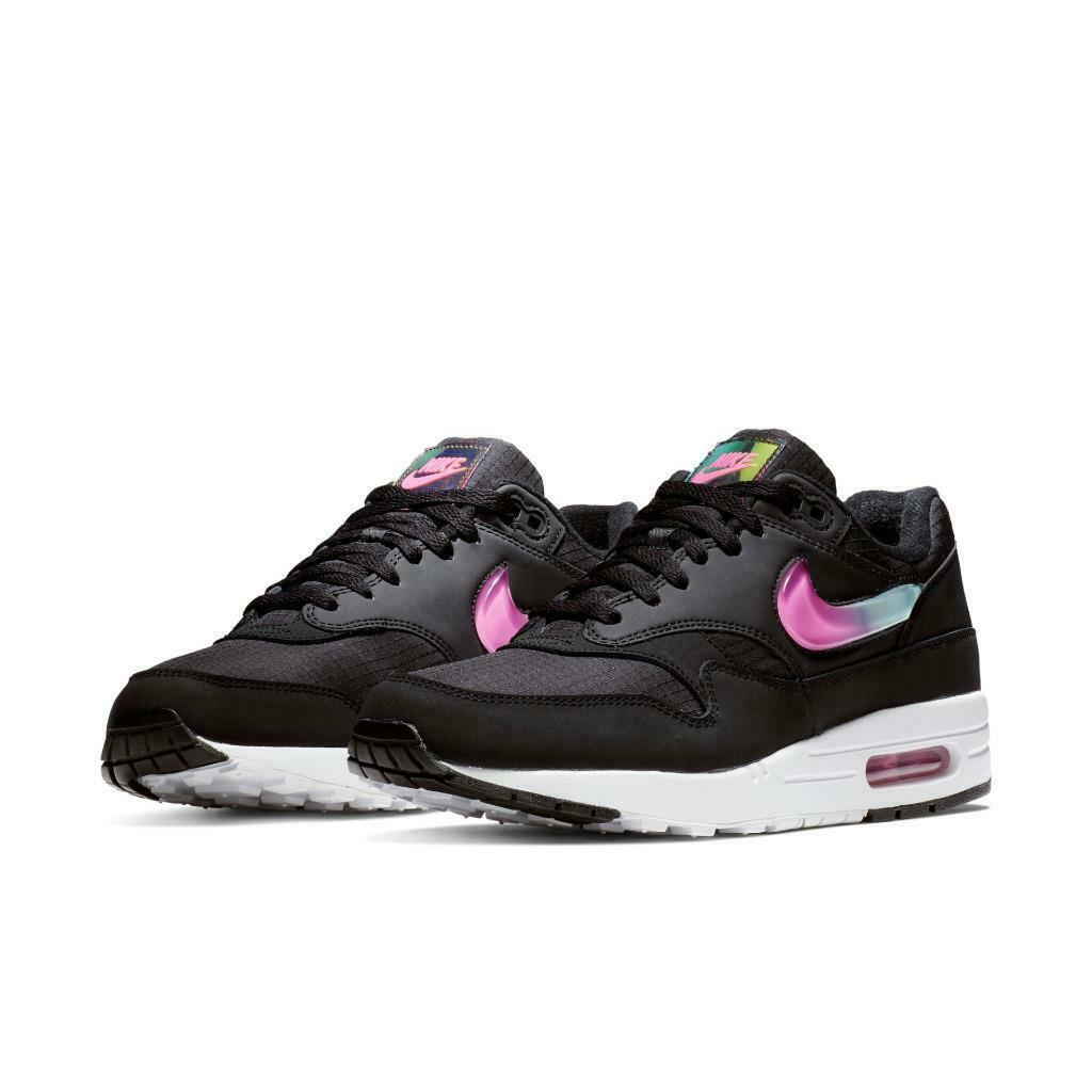 NEW 2019  120 NIKE AIR MAX 1 SE JELLY PACK BLACK blueeE FUCHSIA AO1021-003 SZ 10