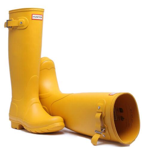 Hunter Women Org Tall Women Yellow Rubber boots Size UK 3-8
