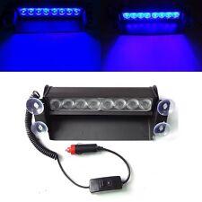 8 LED Coche Camión Policía azul luz estroboscópica de emergencia 3 Luz Intermitente Flash Lámpara Dash Reino Unido