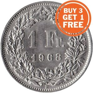 1 Swiss Franc Coin Choice Of Dates 1875