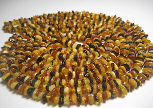 23.6 inch  !!! 6Multicolor Natural Baltic Amber Necklace 60 cm