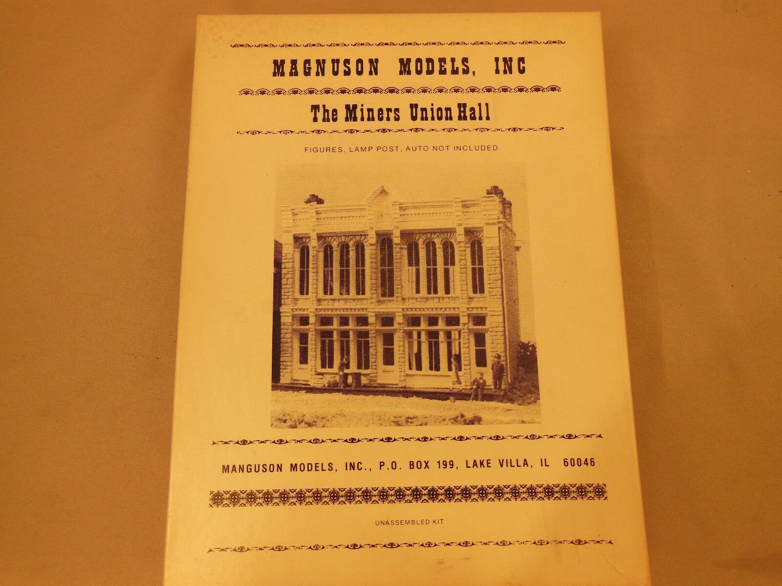 HO SCALE MAGNUSON MODELS NO. M502 THE MINERS UNION HALL STRUCTURE KIT