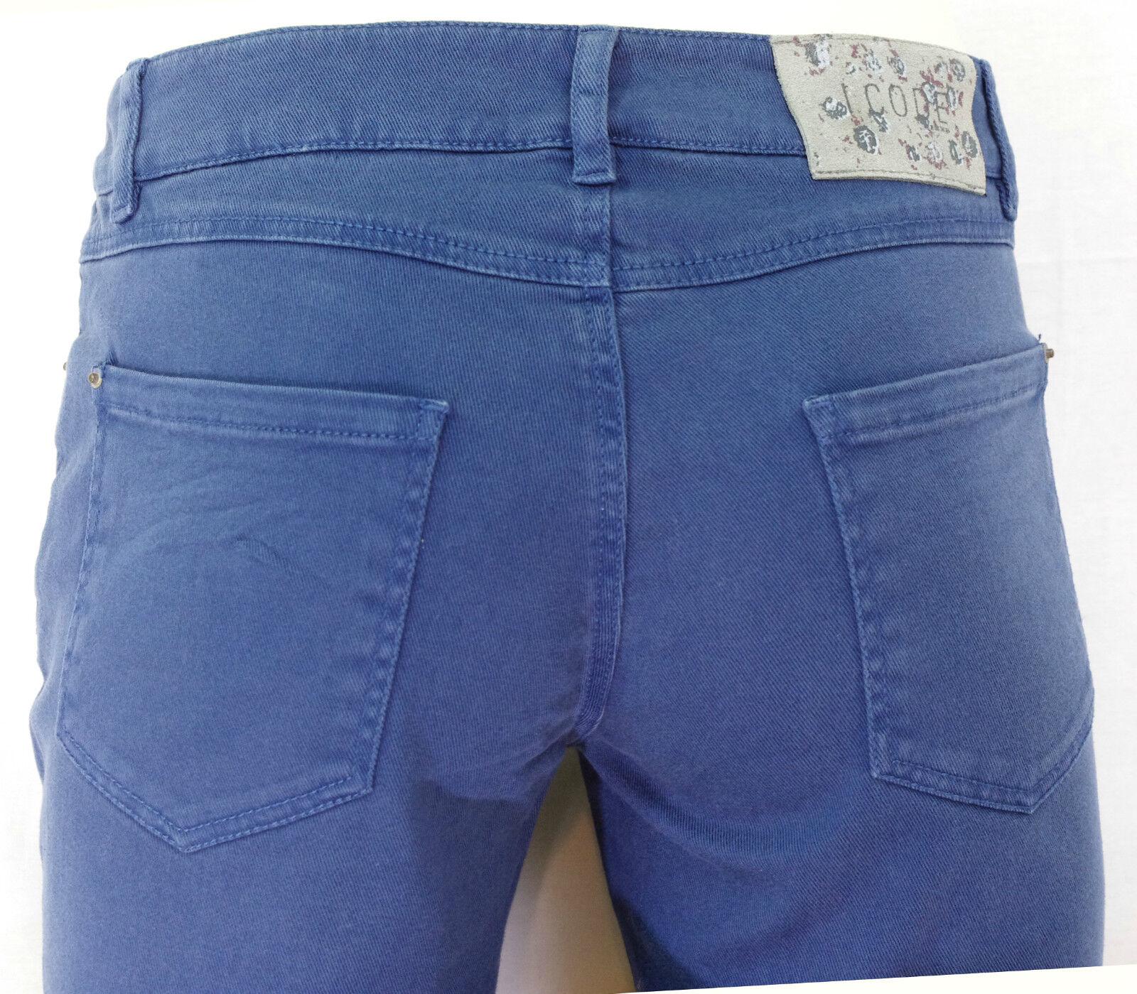 jeans slim fit beige I.CODE by IKKS femme taille semi haute