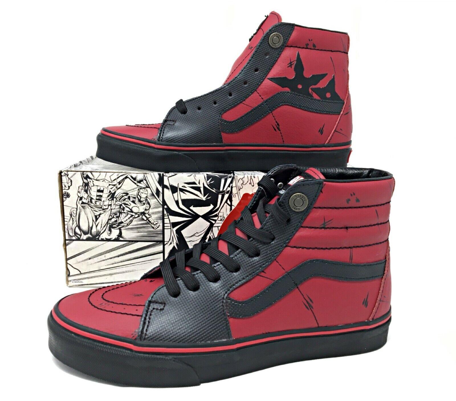 Vans SK8-Hi Marvel Deadpool Limited Edition Black Red Mens shoes SZ VN-0A38GEUBJ